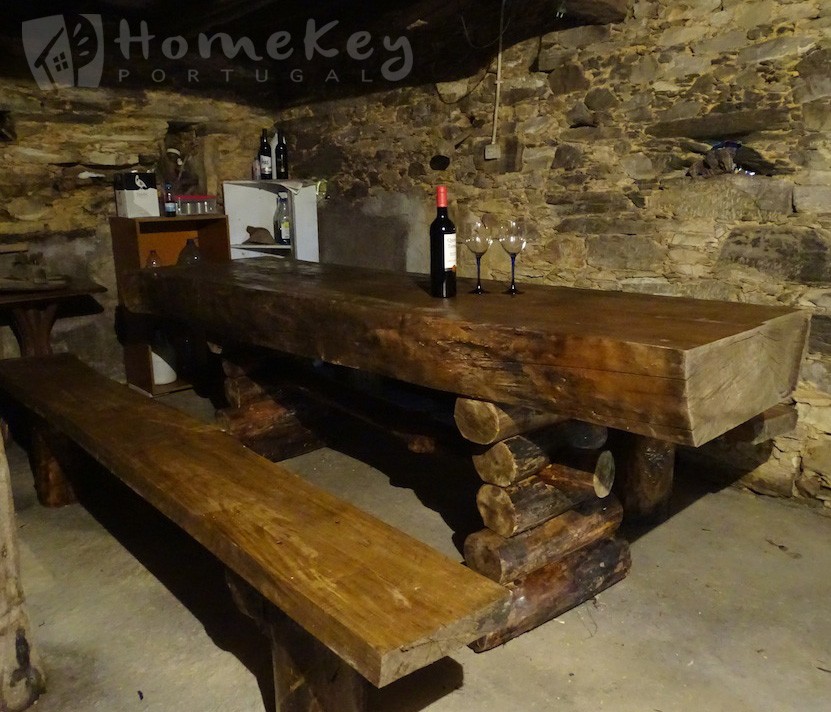 Rustic dining table home key portugal properties for