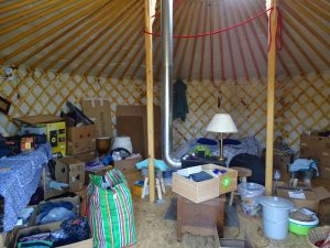 The Yurt inside